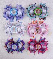 baby kid shop - Grosgrain Ribbon Bows Hair Clips Shop Frozen Family Baby Kids Bowknots Hair Pins Designs Kids Barrettes Boutique Hair Accessories