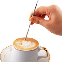 barista espresso - 300pcs Barista Cappuccino Espresso Coffee Decorating Latte Art Pen Tamper Needle Creative Coffee Tools ZA780