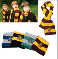 Wholesale Harry Potter Scarf Scarves Winter warm scarf Ravenclaw Scarf Gryffindor Scarf Magic School Slytherin Knit Scarves Cosplay Scarves KKA583