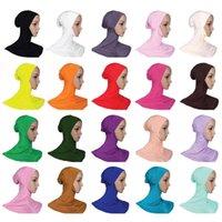 beautiful islamic women - New Women s Soft Stretchble Muslim Beautiful Inner Hijab Caps Islamic Underscarf Hats Muslim Underscarf inner cap Modal hat