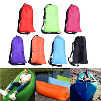 Wholesale New Hot Camping Sleeping Bags Fast Inflatable Sofa Portable Hiking Bed Banana Sleep Bag Beach Outdoor Laying Air Beds Chairs