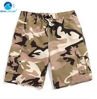 Wholesale GL Brand New Quick Drying Men s Shorts Men s Beach Short Camouflage Fashion Plus Size Army Camo Male Beachwear Board Short