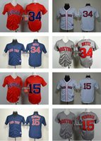 Wholesale Youth David Ortiz Dustin Pedroia Boston Red Sox Authentic Kids Baseball Jerseys New Embroidery Logos Cool Base wholesal Jersey