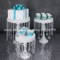 baby shower centerpieces - Crystal chandelier iron cake Cupcake Stand Plate Cake Topper of Wedding Birthday Baby Shower Party Decorations