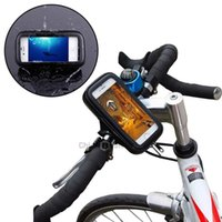 Wholesale Waterproof Bicycle Motorcycle Handlebar Mount Holder Bag Waterproof Bike Cycling Pouch for Apple iPhone Samsung Galaxy S4 Mini