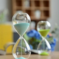 Wholesale Zakka minutes Glass Hourglass pc Fashion Creative Gifts and Crafts home desk wedding party decorative Colorful time Sandglass