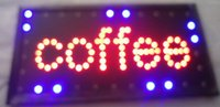 Wholesale 2016 hot sale customed x19 inch indoor coffee store Ultra Bright running led display signs led billboards