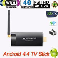 A17 TV Stick Wifi XBMC Bluetooth RK3288 Quad Core Android 4.4 TV Receptores MK903V H.265 Doble Mini PC 4K TV Dongle Stick