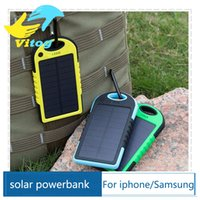 Wholesale Portable mAh Solar Battery Panel external Charger Dual Charging Ports Defender Power BankFor Iphone Samsung Laptop Cellphone Retail box
