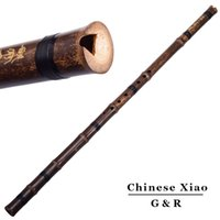 Wholesale Chinese Vertical Bamboo Flute Holes Xiao Accurately Tuned Chromatic Musical Instrument G F Key Dong Xiao For Beginners Flauta