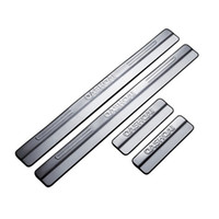 Wholesale For Qashqai Stainless Steel Door Sill Scuff Plate Welcome Pedal Threshold Strip Car Styling Accessories