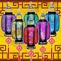Wholesale 10 quot new style hanging lanterns for Holiday party Christmas decoration haning light wishing lamp home lamp with beautiful appearance