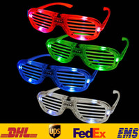 Wholesale LED Light Glasses Fashion Flashing Shutters Shape Glasses Festive Party Holloween Christmas Costume Cosplay Glasses HH G17