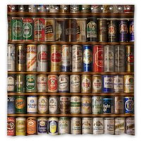 beer bank - Beer Banks Aluminum Alcohol Grades Types All Design Shower Curtain Size x cm Custom Waterproof Polyester Fabric Bath Shower Curtains