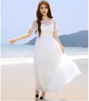 ankle wallet - Korea Maldives Beach skirt dress beaded studded dress long bi fold wallets White beach dress