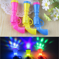 Wholesale 5Pcs New Baby LED Flashing Projector Gun Children Emitting Gun Toys Baby Kids Led Flashing Toy Gun Gift Color Random