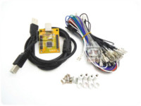 Wholesale 1 kit for Juyao Arcade to USB controller player MAME Multicade Keyboard Encoder USB to Jamma with coin acceptor