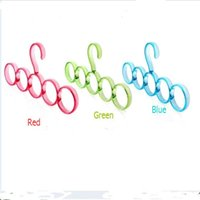 Wholesale One Pair Colorful Nordic creative versatility ring hanger tie rack scarves circle double hook hanger