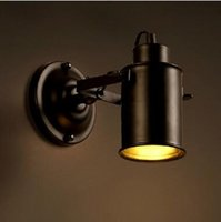 Cheap Wholesale-Free shipping Indoor LED Wall Lamp AC110V 220V 40 60w E27 bedroom Decorate sconce Light
