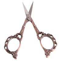 antique sewing scissors - PC Vintage Floral Pattern Scissors Seamstress Plum Blossom Cross Stitch Scissor Antique Sewing Scissor for Fabric Tool EJ877883
