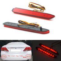 Wholesale 2Pcs LED Red Car Tail Light Parking Fog Lights Brake Rear Bumper Reflector Lamp for Toyota Camry Innova Lexus ISF GX470 RX300