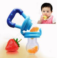 Wholesale Novelty Baby Pacifier Feeding Soother Nipples Soft Silicone Bag Feeding Fresh Fruit Food Sucking Nipple Supplement Training Device QQA205