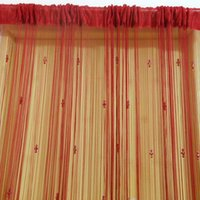 Wholesale Nice Wine Red Three Bead String Decoration Curtains For Door Window New