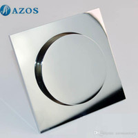 Wholesale AZOS Brass Chrome Toilet Floor Drain Strainer Grates Waste Bathroom Shower Part Ground Overflow Fitting PJDL013
