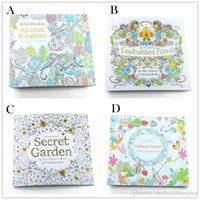 Wholesale 4 Design Secret Garden An Inky Treasure Hunt and Coloring Book Children Adult Relieve Stress Kill Time Graffiti Painting Drawing Book B