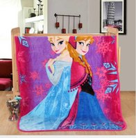 Wholesale Kids Frozen Blanket Children s Cartoon Super Soft Quality Bedding Quilt m Baby Blankets Winter Warm Comfortable Texile Carpet Hot Sale