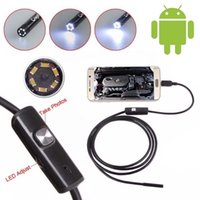 Wholesale 6 LED mm Lens Android Endoscope Waterproof Inspection Borescope Tube Camera M Length