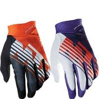 finger bmx bike - Hot Sale New Air Line KTM BMX MX Gloves Black Orange fox Bike Polyester Off Road Moto racing Gloves