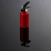 Precio de Fire extinguisher-Pecial Estilo Sigarette Filtro con Forma de Extintor Grinder para fumar con 3 capas de aleación de zinc de 102 mm GD-009