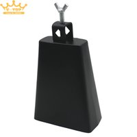 Wholesale Inch Black Metal Cattlebell Cowbell Personalized Brass Cattle Cow Bell Percussion Instrument