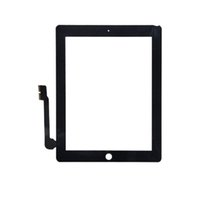 Wholesale OEM Touch Screen Glass Panel with Digitizer for iPad Black and White DHL Shipping