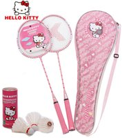 Wholesale new arrival lovely Hello kitty badminton rackets have badminton