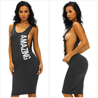 amazing knit - Amazing Graphic Print Black Midi Dress Deep Sides Slit Crew Neck Sporty Knit Daily Dresses Slim Spandex Club Wear For Women