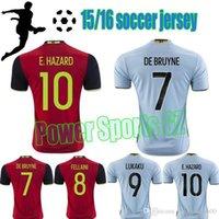 Wholesale 2016 Belgium Soccer Jersey Kevin de Bruyne Jersey Belgium Eden Hazard Shirt Champion League Lukaku Maillot de Foot