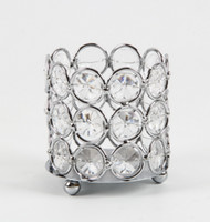 Wholesale Wedding decoration Crystal beaded bling votive candle holder tealight holder x6 x7 cm HWB