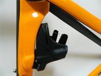 aero brake - Orange black Vias frame BB68 BB30 Race bike frame With brake handlebar aero design carbon road frame cycling frameset EMS