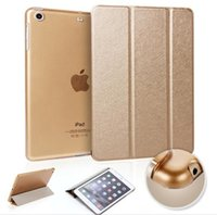 air connect - For ipad air Silk pattern connected intelligent dormancy smart Stand PU Leather Case Cover