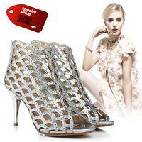 Wholesale 2016 Designer Wedding Shoes Rhinestone Gold And Silver Shoe Heels CM CM CM Bridal Party Shoe Wedding Accessories