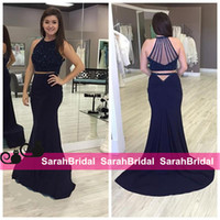 beaded tops for evening wear - Sparkly Separates Two Pieces Prom Dresses k16 Fashion for Teens Girl Sale Cheap Crop Top Fit and Flare Skirt Evening Gowns Formal Wear