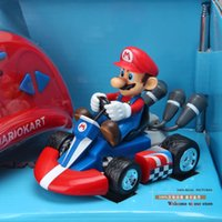 Wholesale Super Mario Mini Radio Control Kart Yoshi Mario Remote Controller Car Remote Control Toys RC Car Mario Figure Toys SMFG196