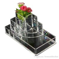 Wholesale Acrylic Cosmetic Organizer Lipstick Holder Display Stand Clear Makeup Case makeup organizer organizador Storage Container
