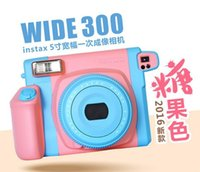 Wholesale Fujifilm Polaroid instax wide camera inch limited Candy color with free mirro best Christmas gift for girl Fuji camera