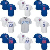 Wholesale Chicago Cubs World Series Champions Jersey Men s Jorge Soler Javier Baez David Ross Kyle Hendricks Embroidery Logos Jerseys