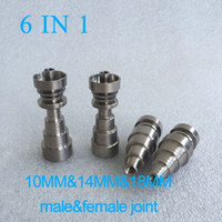 Wholesale Universal Domeless IN1 Titanium Nails mm mm mm joint for male and female domeless nail high quality