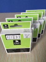 Wholesale compatible tape for D1 Standard tape Black on white mm M pk high quality