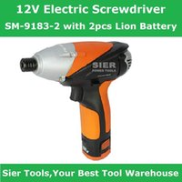 Wholesale 12V Power Tools V Electric Screwdriver Driver SM with Lion Battery Sier impact wrench Rechargeable electric wrench with CE GS